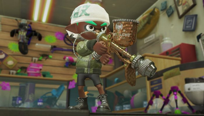 This is the Aerospray PG from the Sheldon's Pics in Splatoon 2