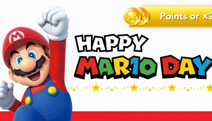 Nintendo France : '2x plus de points or pour le MAR10 Day !'