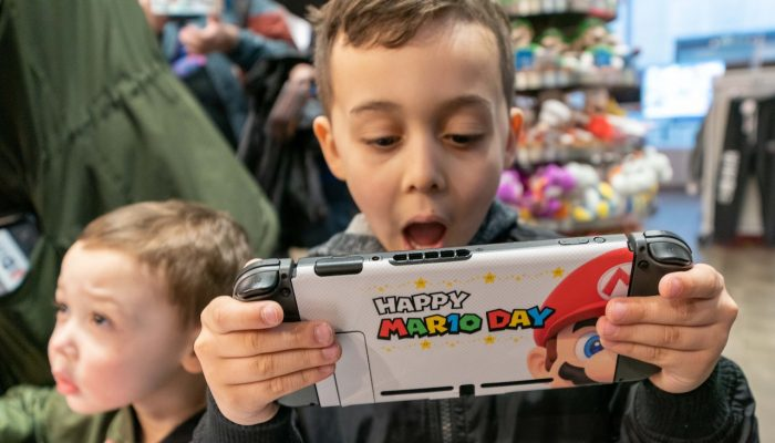 Photos of the MAR10 Day Event at Nintendo NY Store