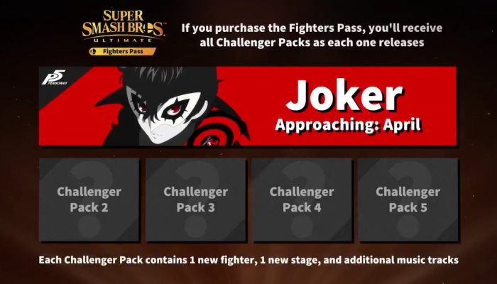 """Joker now set to arrive as DLC Fighter """"before the end of April"""" in Super Smash Bros. Ultimate"""