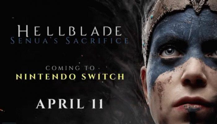 Hellblade Senua's Sacrifice launching April 11 on Nintendo Switch