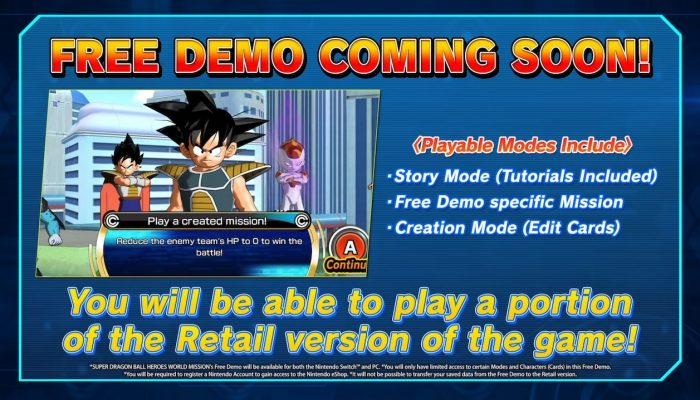 Super Dragon Ball Heroes: World Mission – Free Demo Teaser Trailer