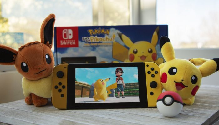 The Pokémon Let's Go Pikachu & Eevee Edition Nintendo Switch bundles have come back to North American stores