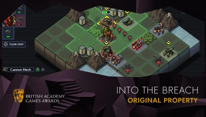 Into the Breach wins BAFTA Games 2019 Original Property award