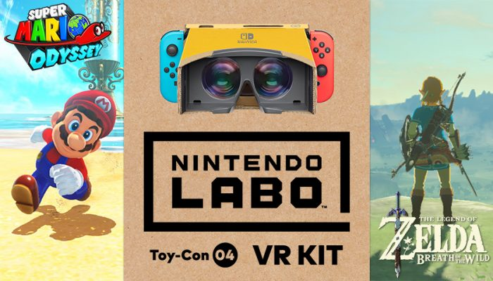 NoA: 'The Toy-Con VR Goggles from Nintendo Labo: VR Kit will soon be compatible with two fan-favorite Nintendo games!'