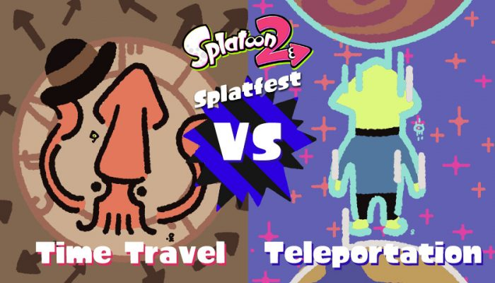 NoA: 'Take a trip through time OR space in this weekend's Splatfest!'