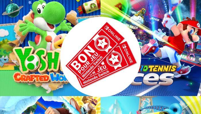 Nintendo Switch Online – Bons pour jeux Nintendo Switch