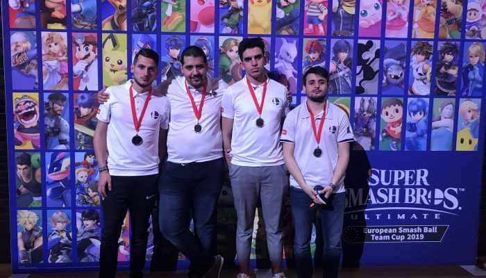 La France finit seconde à la Super Smash Bros. Ultimate European Smash Ball Team Cup 2019