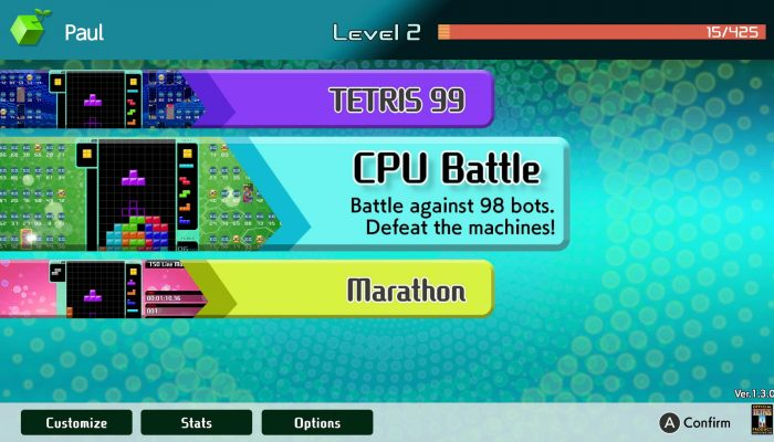 Tetris 99's first DLC is now available