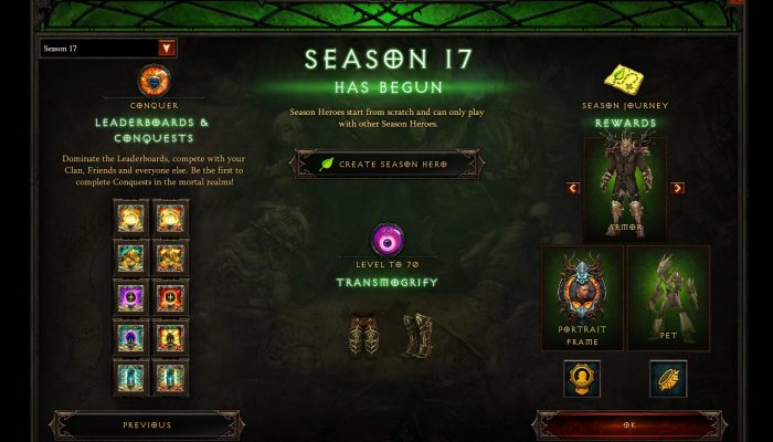 Diablo III Season 17 is now live