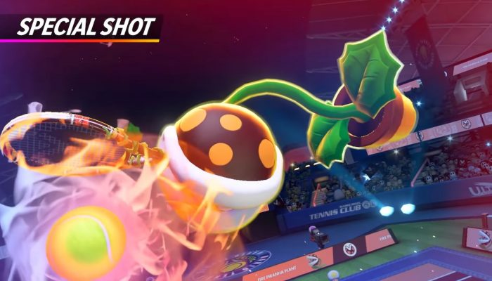 Mario Tennis Aces – Fire Piranha Plant Showcase