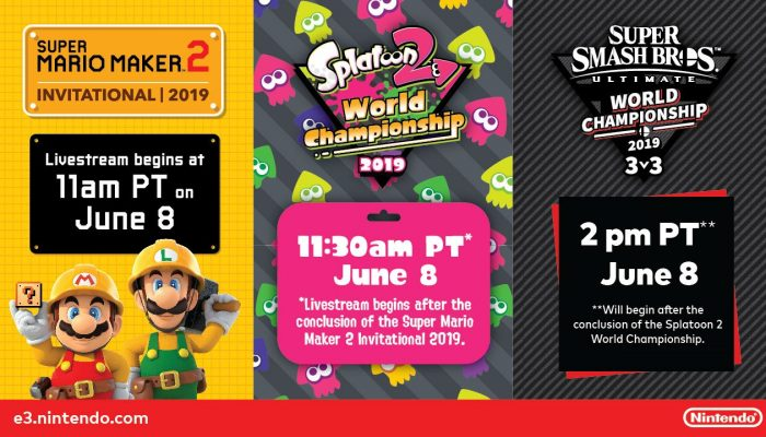 The schedule for Nintendo's E3 tournaments is up