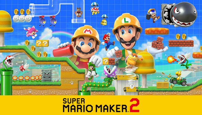 NoA: 'Super Mario Maker 2 is out today! Create and play courses solo or together, enjoy Story Mode, and play online!'