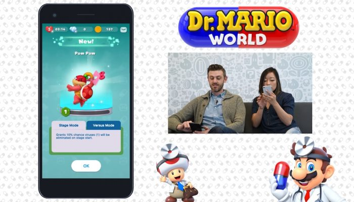 Nintendo Minute – Dr. Mario World New Versus Mode Gameplay
