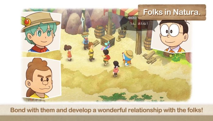 Doraemon Story of Seasons – Interacting With The Folks In Natura