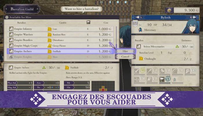 Fire Emblem : Three Houses – Bande-annonce de l'Académie des officiers