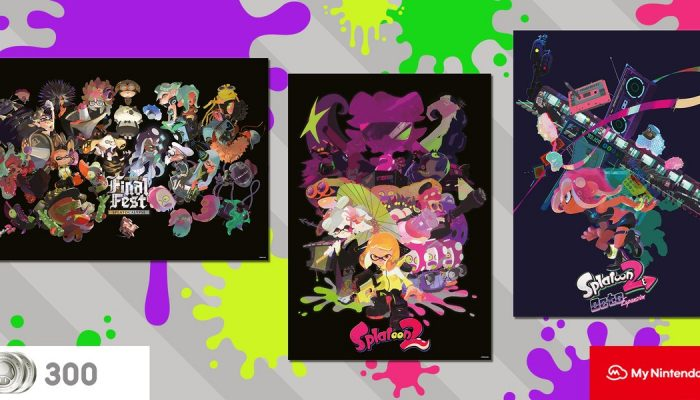 Actual Splatoon 2 posters will be available as rewards on My Nintendo