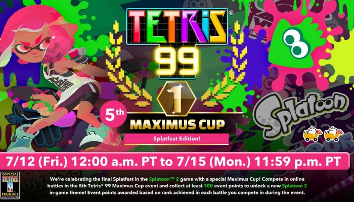Announcing the Tetris 99 5th Maximus Cup Splatfest Edition
