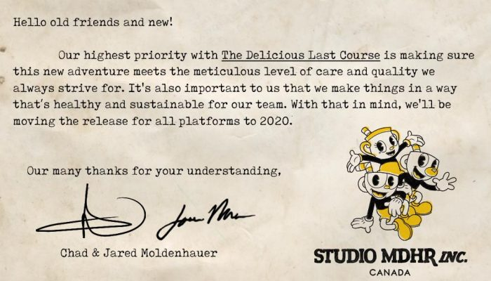 Studio MHDR explains the delay of Cuphead's Delicious Last Course DLC