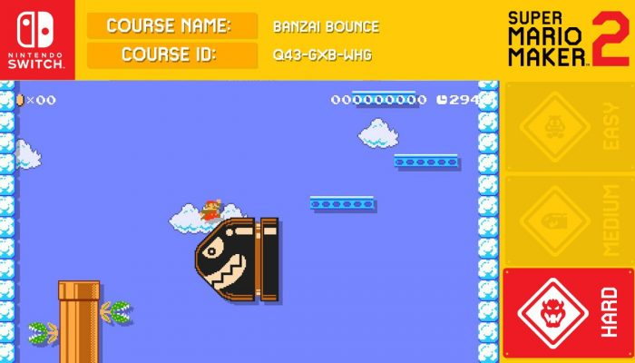 Here's a couple of Super Mario Maker 2 courses including Banzai Bounce from Celeste's developer