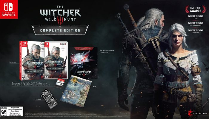 Here are the contents of the Nintendo Switch boxed version of The Witcher 3 Wild Hunt Complete Edition