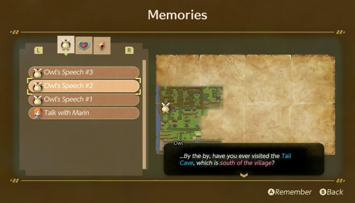 You can re-read past dialogues in The Legend of Zelda Link's Awakening