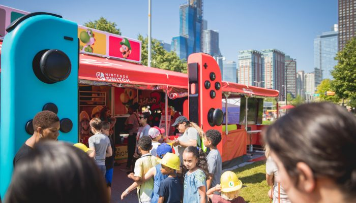 Photos of the Nintendo Switch Road Trip and Super Mario Maker 2 Launch Event with the Chicago Children's Museum at Chicago's Navy Pier