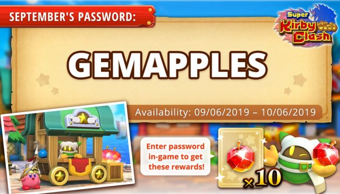 Get free Gem Apples in Super Kirby Clash