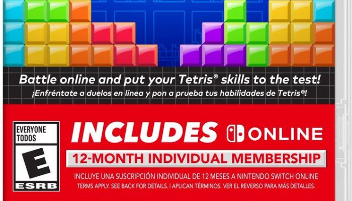 Tetris 99's package version is now available in North America