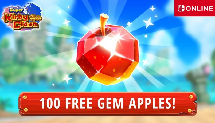 Nintendo Switch Online membership gives you 100 free Gem Apples in Super Kirby Clash