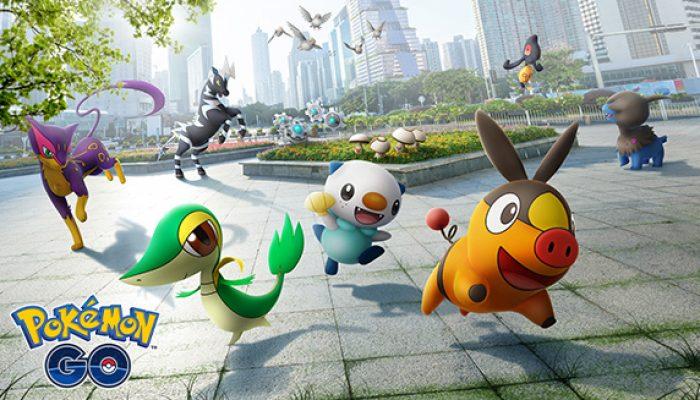 Pokémon: 'Pokémon Originally Discovered in Unova—Like Snivy, Tepig, and Oshawott—Now in Pokémon Go'