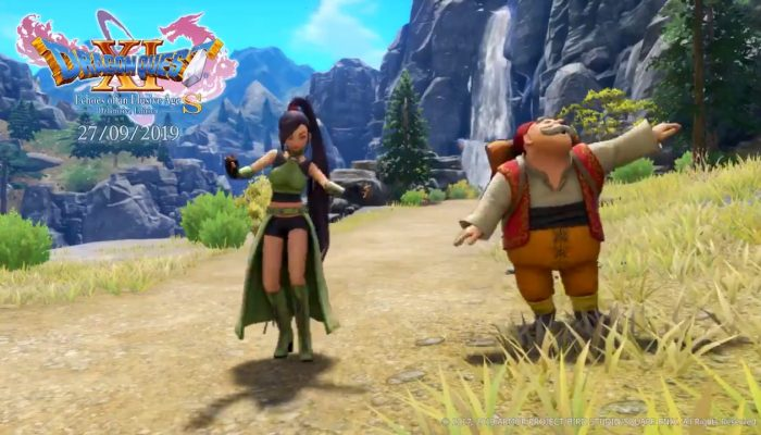 Dragon Quest XI S playable characters do the dance