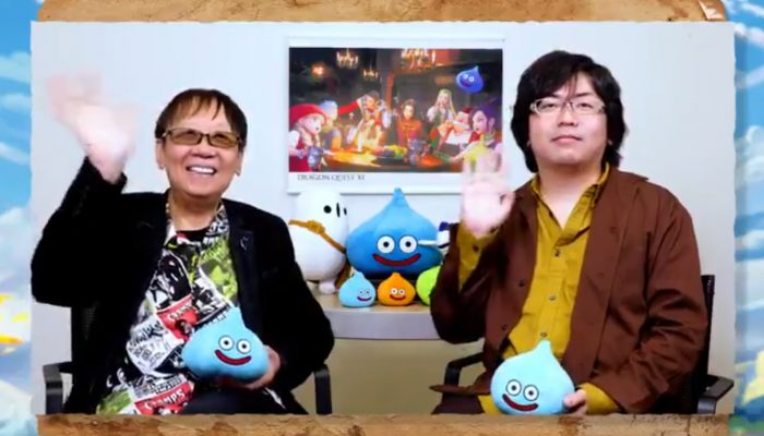 Dragon Quest series creator and Dragon Quest XI S producer celebrate the launch of the game