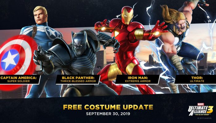 Marvel Ultimate Alliance 3 with a free costume update alongside the launch of the game's first DLC pack