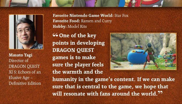 Dragon Quest XI S director Masato Yagi describes the signature style of the Dragon Quest franchise